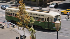 Famous San Fransico Cable Car Stock Footage