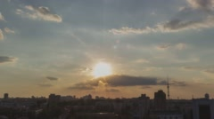 Follow The Sun In City 5 without birds and destructive color correction in ProRe - stock footage