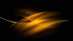 Glowing dark orange waves video animation - stock footage