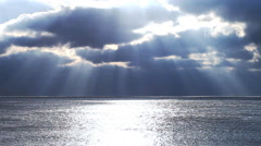 sea, sky, clouds, sun, horizon, landscape, ocean - stock footage