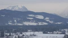 Gorgeous view of Untersberg mountain in Salzburg Stock Footage