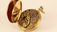 Vintage Pocket Watch 18K Gold  Stock Footage