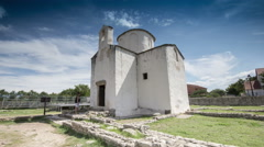 Smallest Cathedral in World Nin Croatia - stock footage