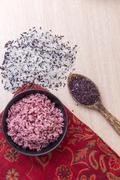 Cooked jasmine rice mixed rice berry. Stock Photos