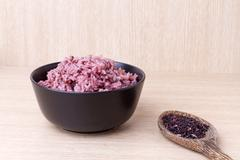 cooked jasmine rice mixed rice berry. - stock photo