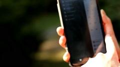 smart, gadget, display, hand, close-up - stock footage