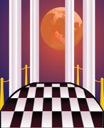 Decorative Balcony - stock illustration