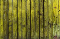 Old rustic Yellow wood board texture Stock Photos
