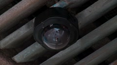 Security camera in roof, very fast zoom in Stock Footage