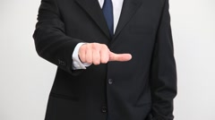 Businessman indicating sideways Stock Footage