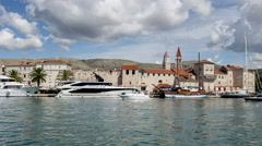 Croatia Trogir Harbour Hyperlapse Stock Footage