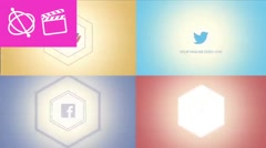 Modern Hexagon Logo - Apple Motion 5 and Final Cut Pro X Template - stock after effects