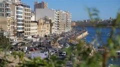Sliema, Valletta, Malta Stock Footage