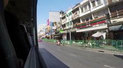 THAILAND, BANGKOK - JAN 2015: Bus rides around town - stock footage