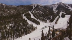 Aerial Ski resort Lee Canyon Nevada Stock Footage