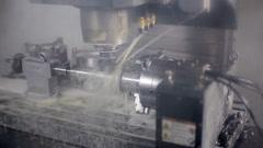 Lathe machine, turning machine works Stock Footage
