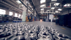 Modern plant, industrial factory inside Stock Footage
