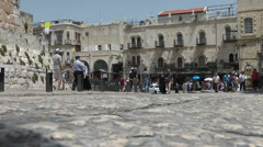 ISRAEL, JERUSALEM - MAY 2015: The old town area of Holy town Stock Footage