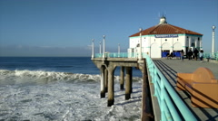 Manhattan Beach Pier - 4K Stock Footage