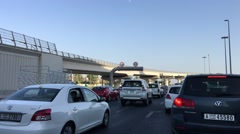 Stock Video Footage of DUBAI - NOVEMBER 22, 2015: Cars in Dubai traffic. Traffic is a major issue in