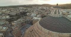 Aerial Shot - Rotating on a Dome Stock Footage