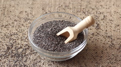 Chia Seeds Stock Footage