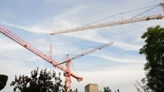 Movement of Tower Crane - stock footage
