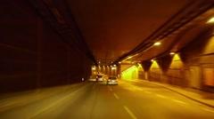 Driving in Tiergarten Tunnel in Berlin Stock Footage