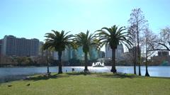 Orlando Scenic View Echo Lake Stock Footage