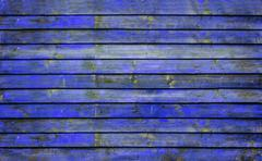 The indigo blue wooden texture background Stock Photos