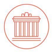 Acropolis of Athens line icon Stock Illustration