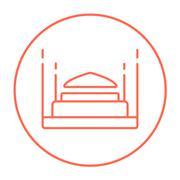 Taj Mahal line icon Stock Illustration
