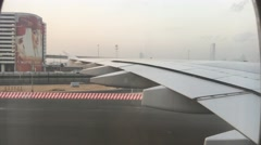 DUBAI - NOVEMBER 22, 2015: Dubai airport exterior. The city attracts 14 million - stock footage
