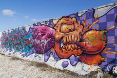 Graffiti Mural in Copenhagen, Denmark - stock photo