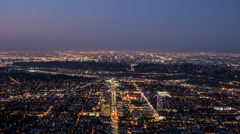 Los Angeles and Glendale Dawn Time Lapse in Southern California Stock Footage