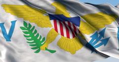 Ultra realistic looping flag: Us Virgin Islands Stock Footage