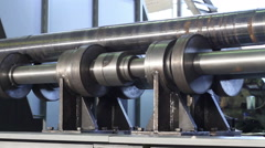 The movement of the workpiece lieing on the platform for grinding Stock Footage