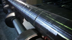 Grinding of the steel billet Stock Footage