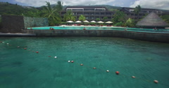 Tahitian Hotel Pool Stock Footage