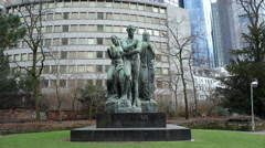 Dem Genius Beethovens, Beethovens the genius monument statue, Frankfurt Stock Footage