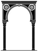 Arch in the Arabic style - stock illustration