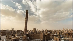 Time lapse of the Old City of Sana'a, Yemen - stock footage