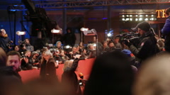Volker Schloendorff interviewed at 66th Berlinale red carpet ceremony Stock Footage