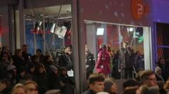 Glass live studio broadcast, Berlinale film festival closing ceremony, Berlin - stock footage