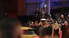 Car arrives at Berlinale film festival red carpet closing ceremony, Berlin Stock Footage