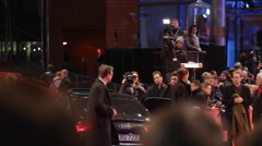 66th Berlinale closing ceremony arrivals, red carpet celebrities, media, Berlin - stock footage