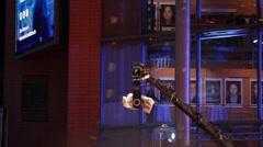 Crane camera movements, Berlinale film fesitval ceremony, Berlin, Germany Stock Footage