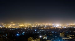 Night time time lapse of Sana'a, Yemen - stock footage