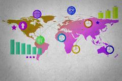 World trade - stock illustration