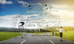 Infographic strategy plan Kuvituskuvat